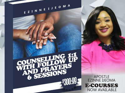 Counselling 1:1 with follow up and Prayers 6 Sessions